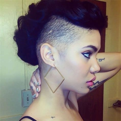 shaved side eirh spiral curls on other side 52 of the best shaved side hairstyles
