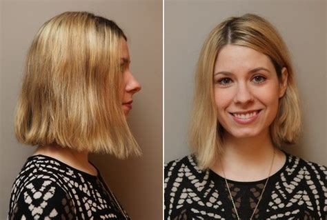 blunt chin length haircut diy start with a lightly layered haircut that s chin length or