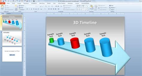 3d timeline template for powerpoint 2010