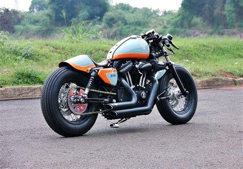 by brock cardiner harley forty eight custom motorcycle by rough crafts hd sportster xl1200x forty eight 13 by studio motor