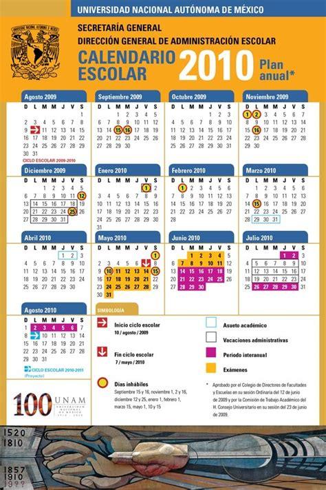 Calendario Escolar Unam 2011 Calendarios Escolares 2009 2010 Escolar Mx