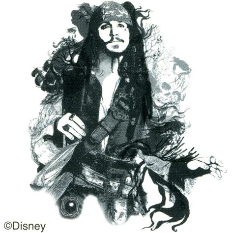 captain jacks tattoo disney captain sparrow temporary 2x2 bodycandy