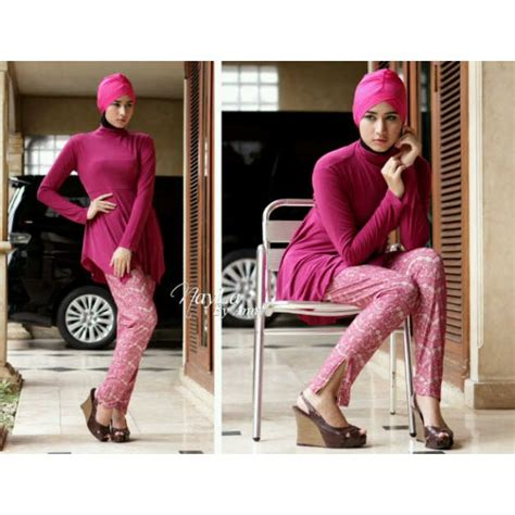 Baju Muslim Kimora Purple 210615 danisha magenta baju muslim gamis modern