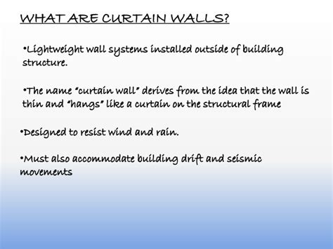 what is a curtain wall curtain wall