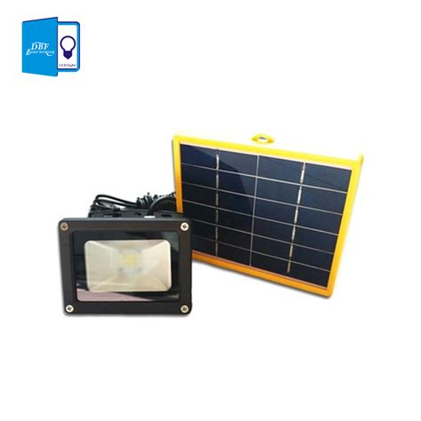 Battery Solar Lights Dbf Waterproof 10w Solar Powered Led Flood Light With 5m