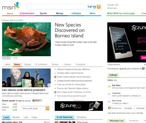 Msn Home by Original Msn Homepage Images