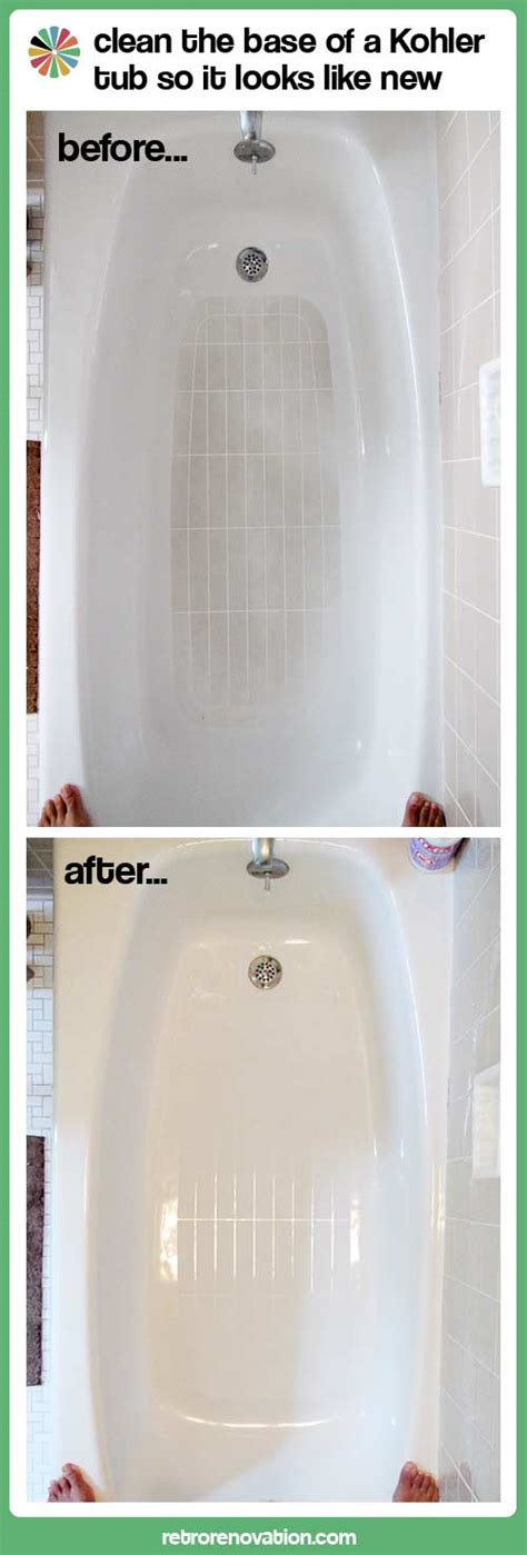 Clean Bathroom Showers How To Clean A Fiberglass Shower Base To Look Like New My Best Product Find Yet Retro Renovation