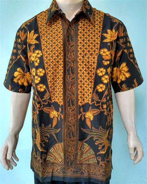 Promo Murah Hem Pria Kemeja Batik Sogan Batik Kerja Pria Raharjo 1 hem batik sogan 01 pusat grosir batik toko