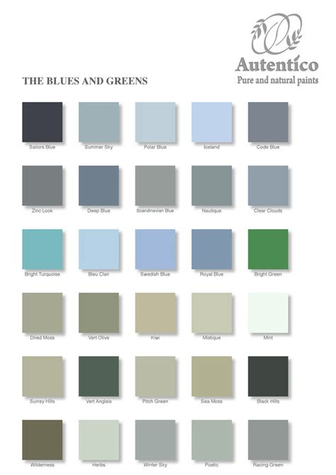 autentico paints colour chart diy shabby chic