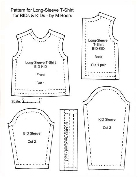 t shirt pattern pdf t shirt long sleeve for bids kids tutorials