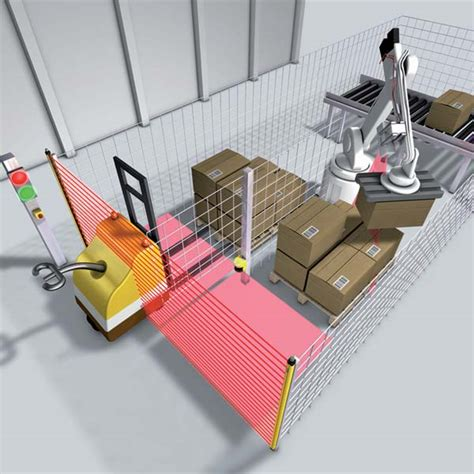 safety light curtains new fork lift truck detection capability for sick s m4000