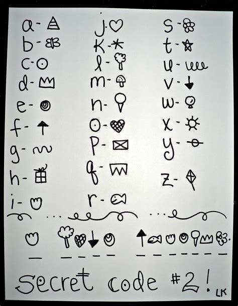 secret letter secret alphabet code symbols