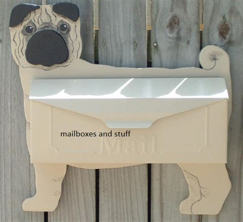 pug mailbox wall mount mailboxes unique novelty animal shaped mailboxes