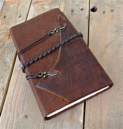handmade leather journals on behance