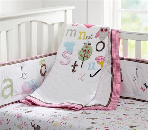 Animal Alphabet Nursery Bedding Set Pottery Barn Kids Alphabet Crib Bedding