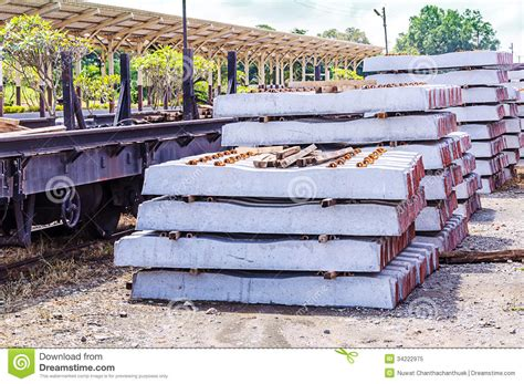 Stacked Concrete Sleepers by Stack Of Concrete Sleeper Royalty Free Stock Photo Image