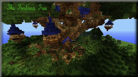 Minecraft Tree House by Fortress Tree House Minecraft Project
