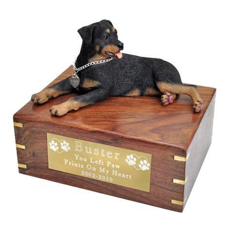 rottweiler urn pet urns rottweiler figurine wooden urn