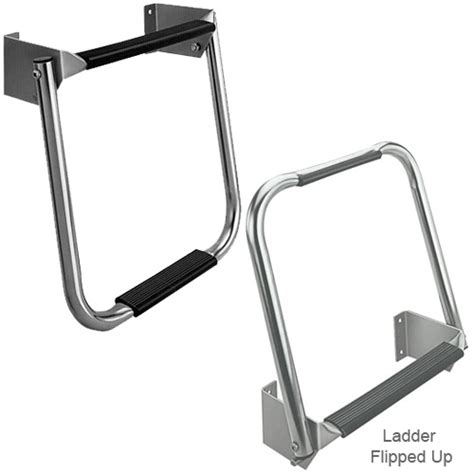 boat ladder west marine garelick compact stainless steel transom ladder west marine