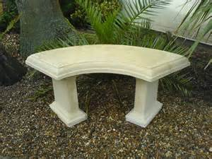 country stone curved garden bench natural cream savvysurf co uk