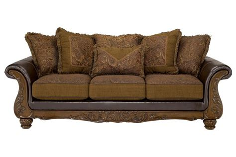 leather and tapestry sofa wilmington walnut sofa different material cushions