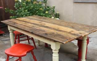 plank kitchen table farm table to plank table diy