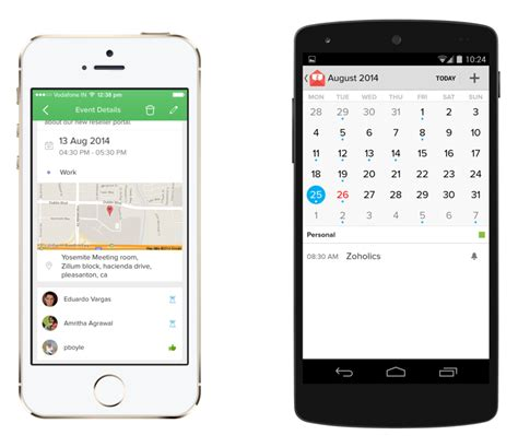 Calendar Mobile Unleashed Zoho Mail App For Ios And Android Phones 171 Zoho