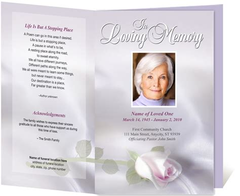 funeral bulletin template free 17 best images about creative memorials with funeral