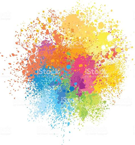 color background of paint splashes stock vector