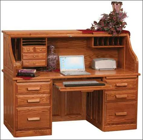 amish roll top computer desk roll top computer desks for home