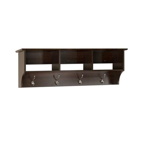 Entryway Rack Shelf by Espresso Entryway Cubbie Shelf Coat Rack Eec 4816