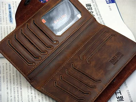 Handmade Mens Wallet Leather - mens brown leather bifold wallet handmade