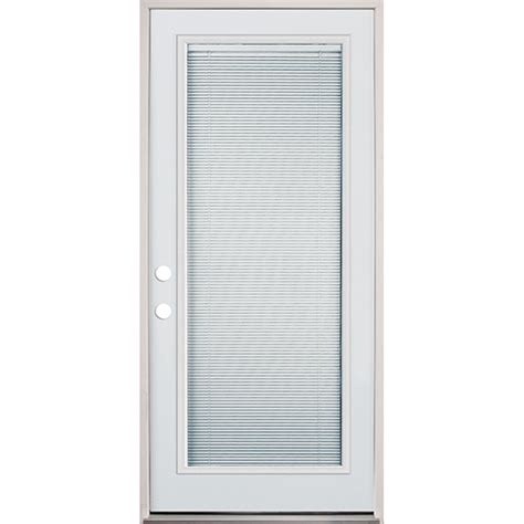 Exterior Door With Blinds 32 Quot Lite Mini Blind Prehung Exterior Steel Door Unit Right Bargain Outlet