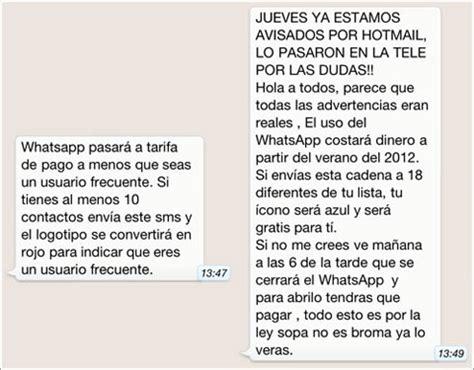 signe cadenas iphone whatsapp no va a cobrar por los mensajes en serio en