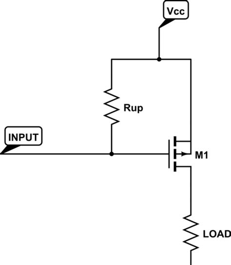 mosfet como resistor variável microcontroller when to use pull vs pull up resistors electrical engineering stack