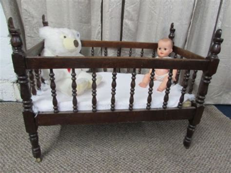 antique baby crib lot detail antique c 1880 s solid wood baby crib