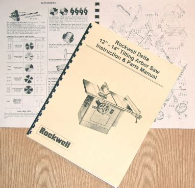 rockwell table saw parts delta rockwell 12 quot 14 quot table saw operating part manual