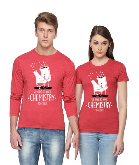 Matching T Shirts For Couples India Chemistry Together Matching T Shirts From