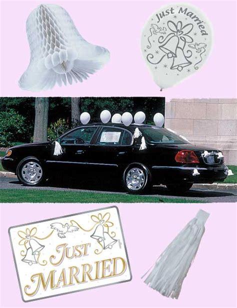 Just Married Autodeko by Just Married Autodeko Set Hochzeit 18 Teilig Weiss Gold