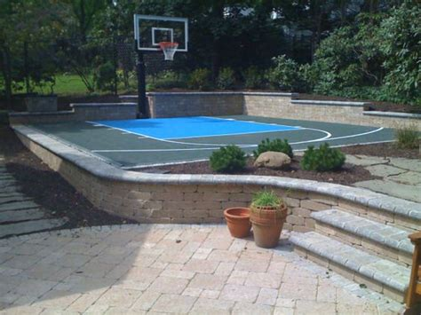 backyard cout ideas backyard basketball court ideas to help your family become