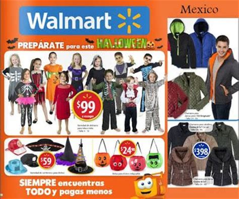 walmart mexico, catalogo de disfraces halloween 2015
