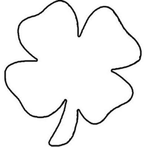 clover color childrens drawing of four leaf clover coloring page