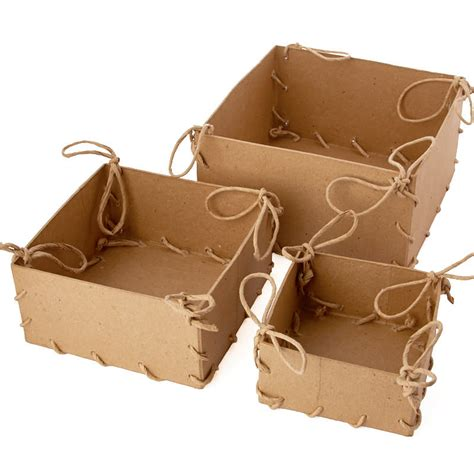 Paper Mache Craft Supplies - paper mache laced box set paper mache basic craft