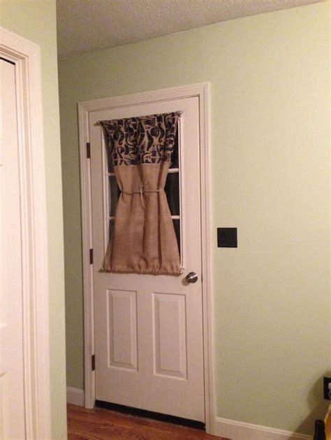 burlap door curtain  magnetic curtain rods door
