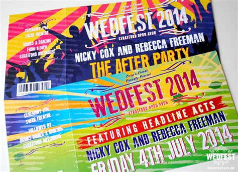 Wedding Stationery Themes by Festival Theme Wedding Stationery Wedfest
