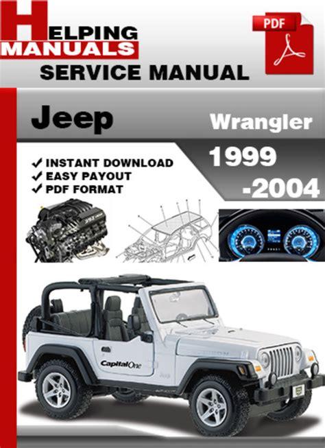 service repair manual free download 2004 jeep wrangler instrument cluster jeep wrangler 1999 2004 service repair manual download download m