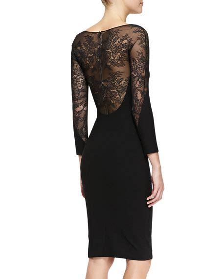 Lace Panel Sheath Dress carolina herrera lace panel sheath dress