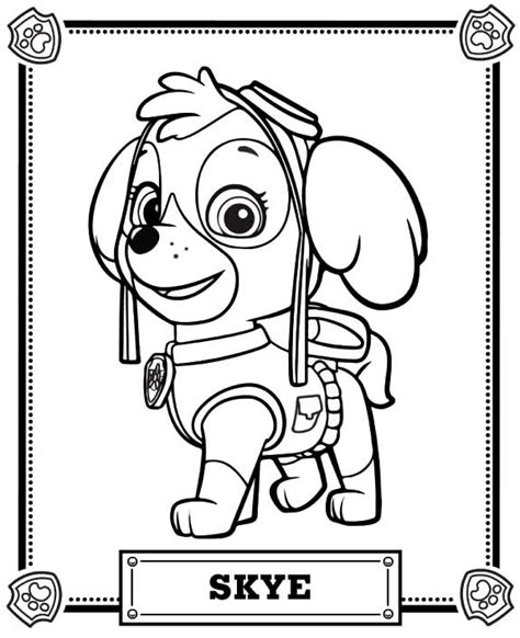 coloring page for paw patrol paw patrol coloring pages coloring home