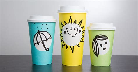 cup designs starbucks unveils new spring themed cups in three fun