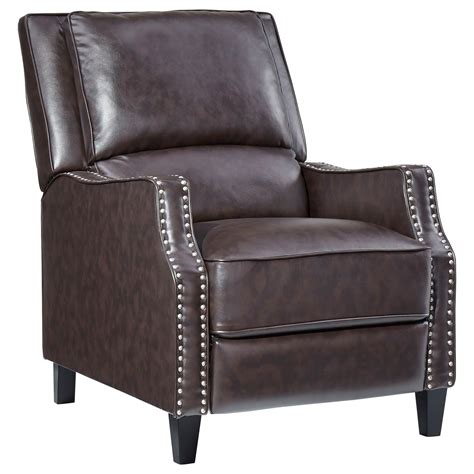 sleek recliner standard furniture alston sleek recliner with tight